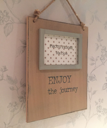 Enjoy The Journey Rough Wood Wall Hanging Photo Frame
